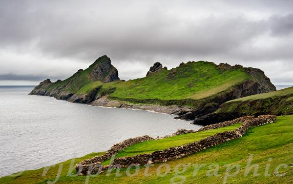 The island of Dun off St. Kilda